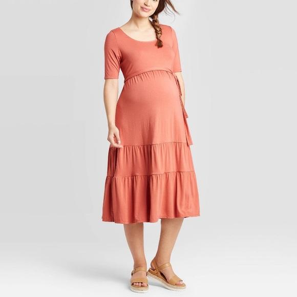 Isabel Maternity By Ingrid Isabel Dresses Isabel Maternity Tiered Knit Maternity Dress L Poshmark